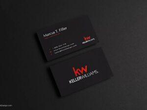 300gram Black Metallic Marble Business card