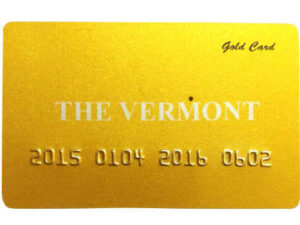 300gram (15ml) Embossed Gold or Silver Plastic Business cards