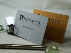 300gram (15ml) Unembossed Gold or Silver Plastic Business cards