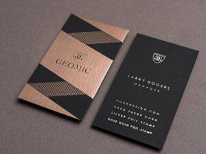300gram Metallic Marble Business Cards